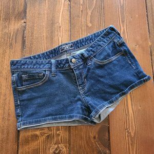 GUESS Dark Wash Jean Denim Shorts-Size 28